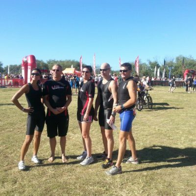 The team at the Nissan Corporate Triathlon.