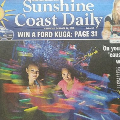 "Featured in the newspaper for ""Glow Stick Run""."