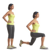 Easy home exercise - Lunges